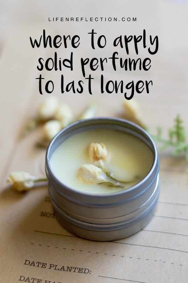 A great benefit of using solid perfume is the flexibility. You can apply solid perfume in multiple ways and the level of scent is easily controlled by the application. Learn the best places and techniques to apply perfume for a long lasting scent!