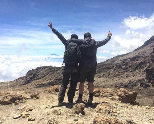Enjoying the views on Mt Kilimanjaro