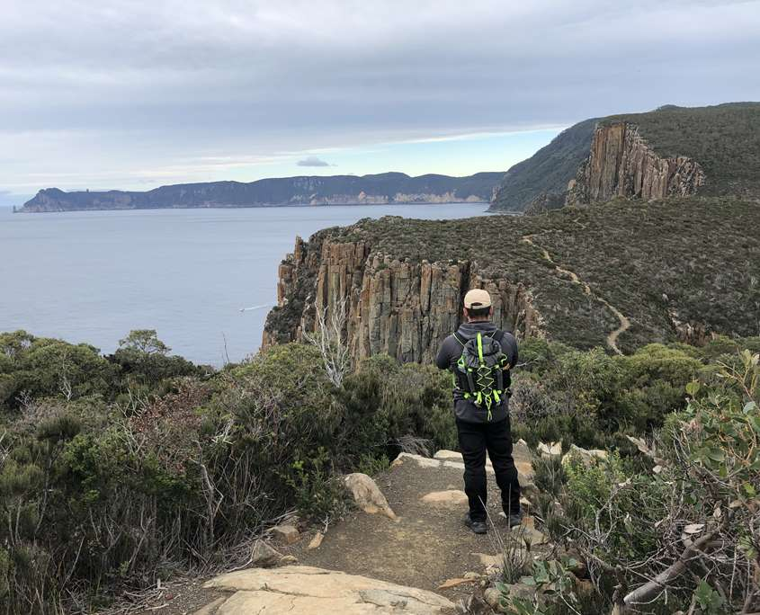 Taking in the views at Cape Hauy on the Three Capes Track