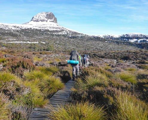 Trekking the Overland Track during winter in Tasmania