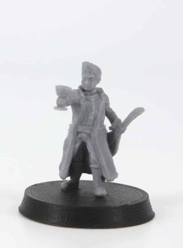 corin halfling bard with lute and chalice 3d printable tabletop miniature photograph