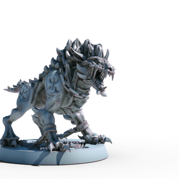 hell hound 3d printable tabletop miniature