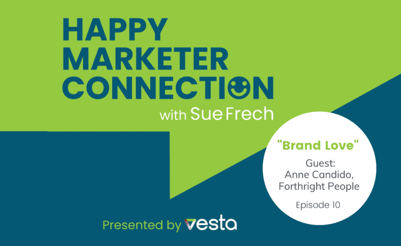 """Happy Marketer Connection Ep. 10: Anne Candido, Forthright People on """"Brand Love"""""""