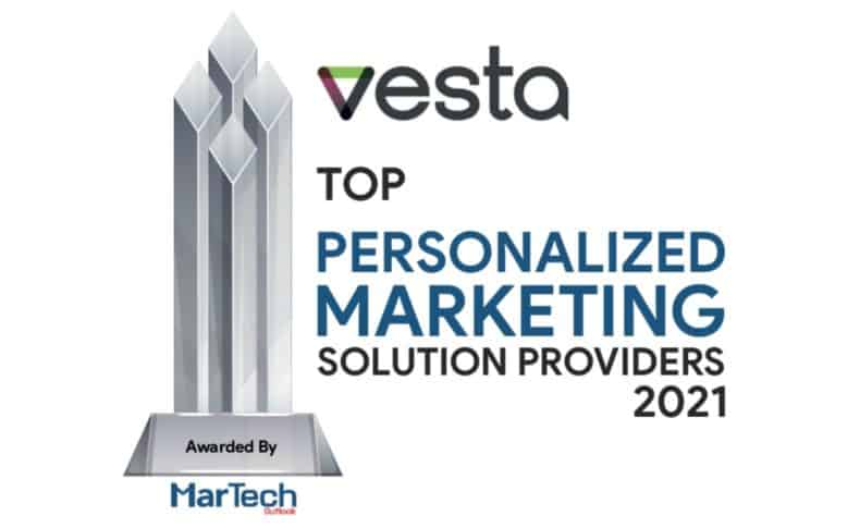 Vesta Honored as Leader in Personalized Marketing Technology