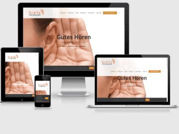 responsive Webdesign Gralla Hörakustik, Mannheim