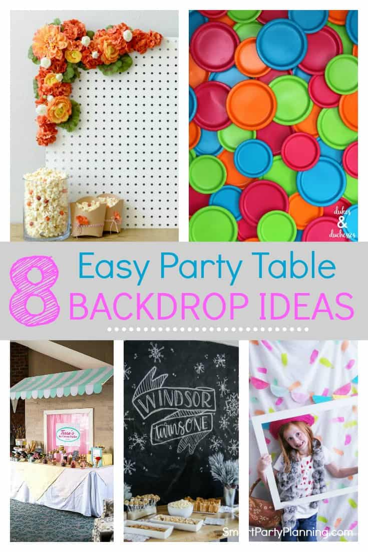 8 Of The Best Easy Party Table Backdrop Ideas