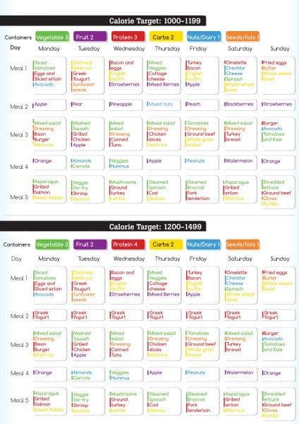 21 day sample meal plan