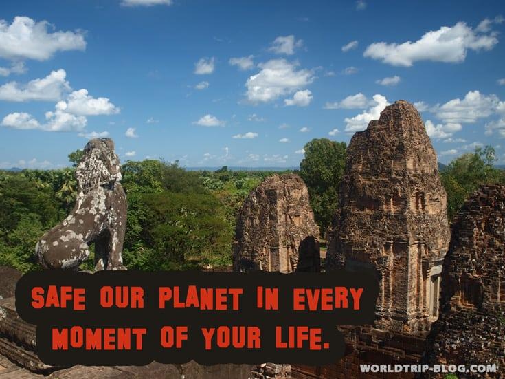 Safe our planet worldtrip-blog.com