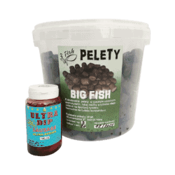 3Fish Pelety Big fish 20mm 3kg vedro+Zdarma Ultra dip 140ml