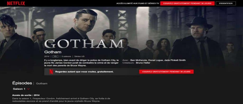 Gotham Site officiel de Netflix