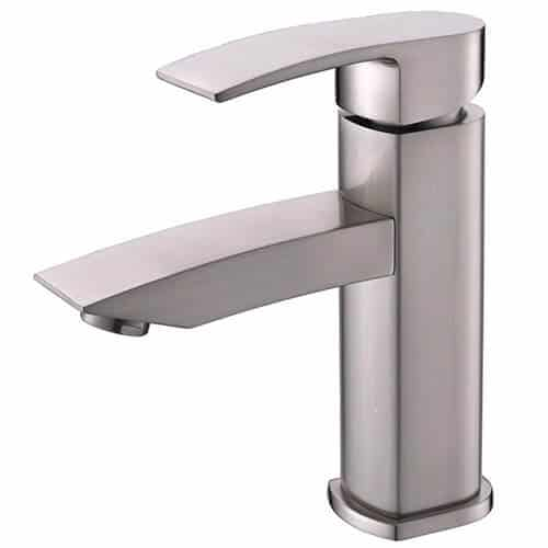Hotis Widespread Single Handle Single Lever Centerset Stainless Steel Lavatory Bathroom Vanity Faucet