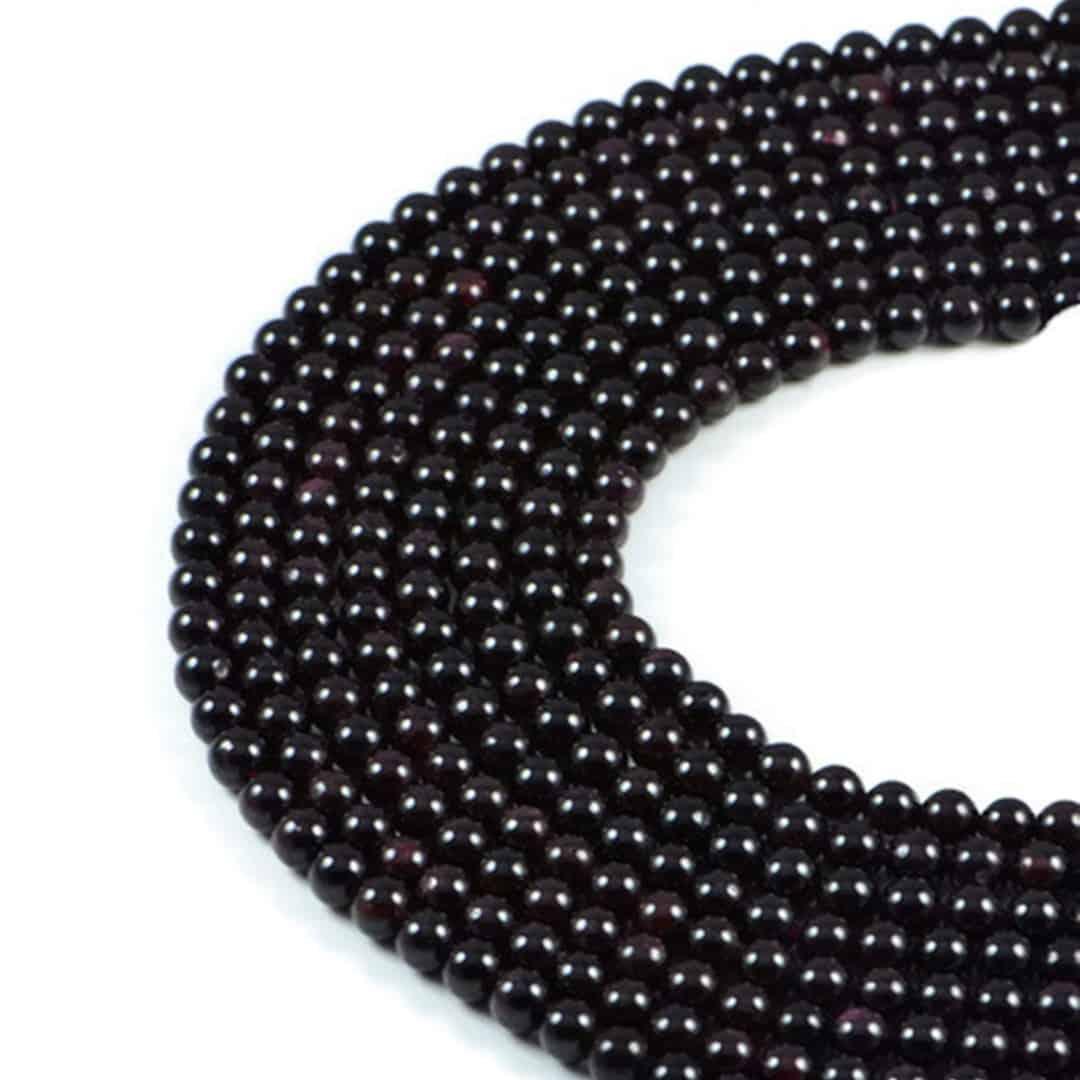 "Semi-Precious Natural Gernet Round Gemstone Jewellery Making Beads 15""- 4mm 6mm"