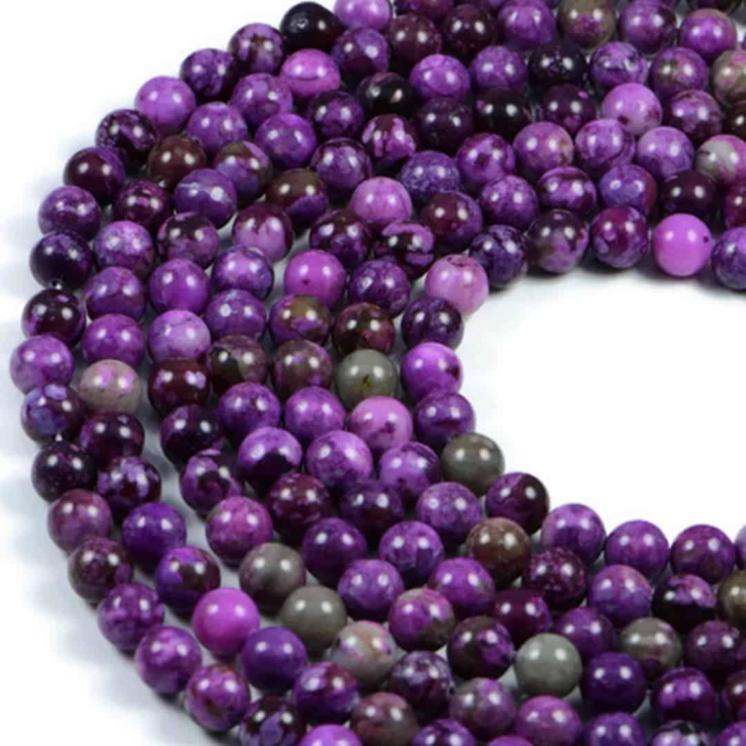 Semi-Precious Natural Dragon Jasper 8mm Round Gemstone Jewellery Making Beads On 15.5 Inch Strand