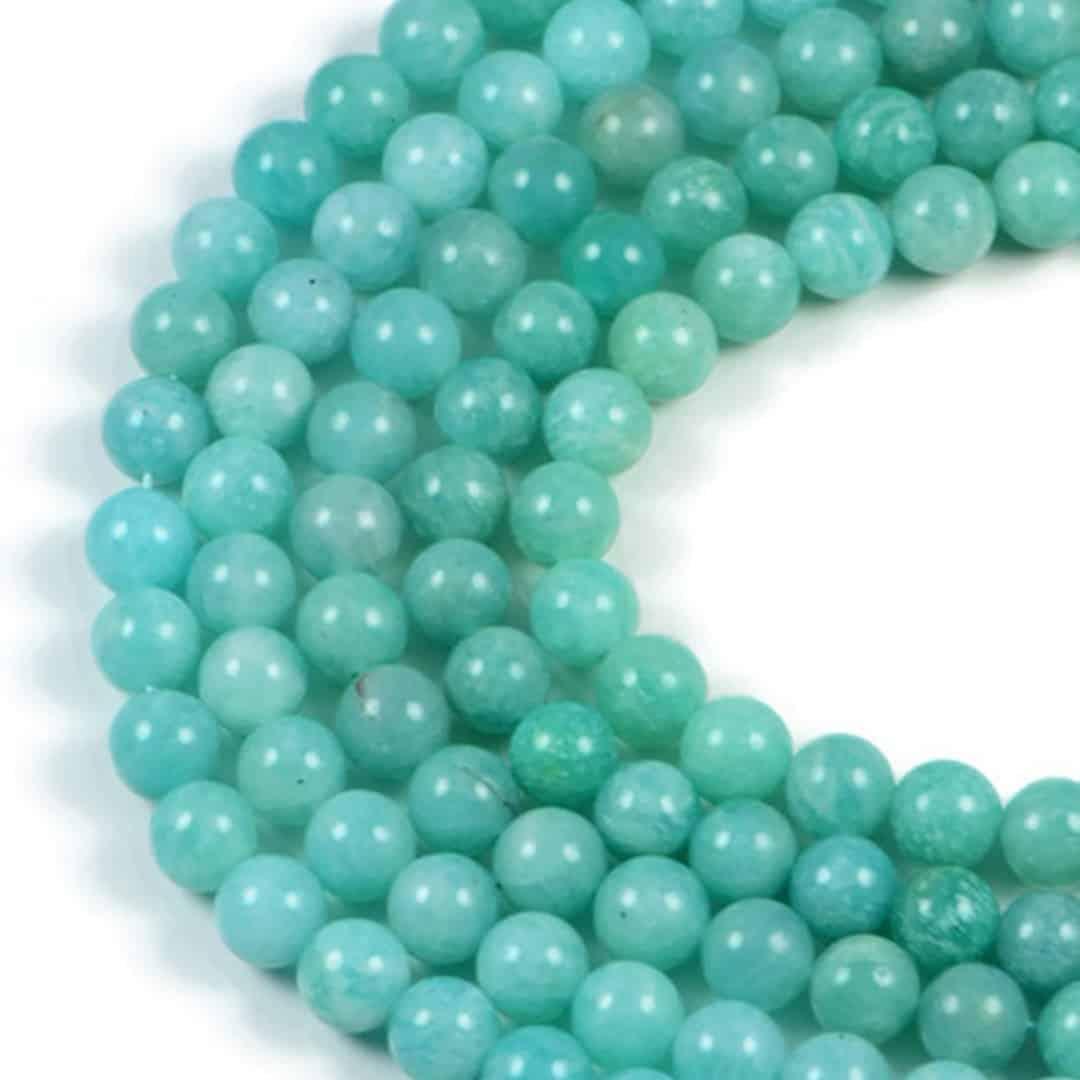 Semi-Precious Natural Mojambique Amazonite 8mm Round Gemstone Jewellery Making Beads On 15 Inch Strand