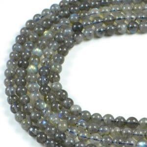 Semi-Precious Natural Labradorite 6mm Round Gemstone Jewellery Making Beads On 15.5 Inch Strand