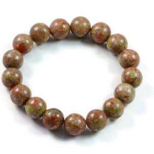 Semi-Precious Gemstone 10mm Multicolour Agate Bead Bracelet