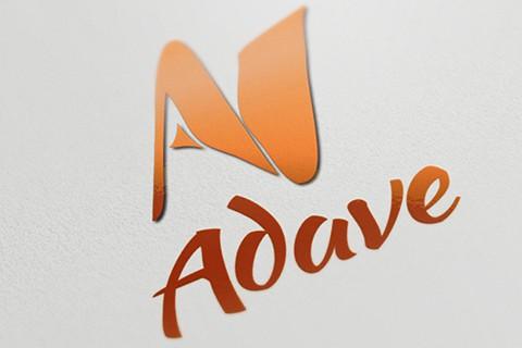 Création d'un logotype et de cartes de visite pour la société Adave à Saint-Etienne. Eric Martin ©2014