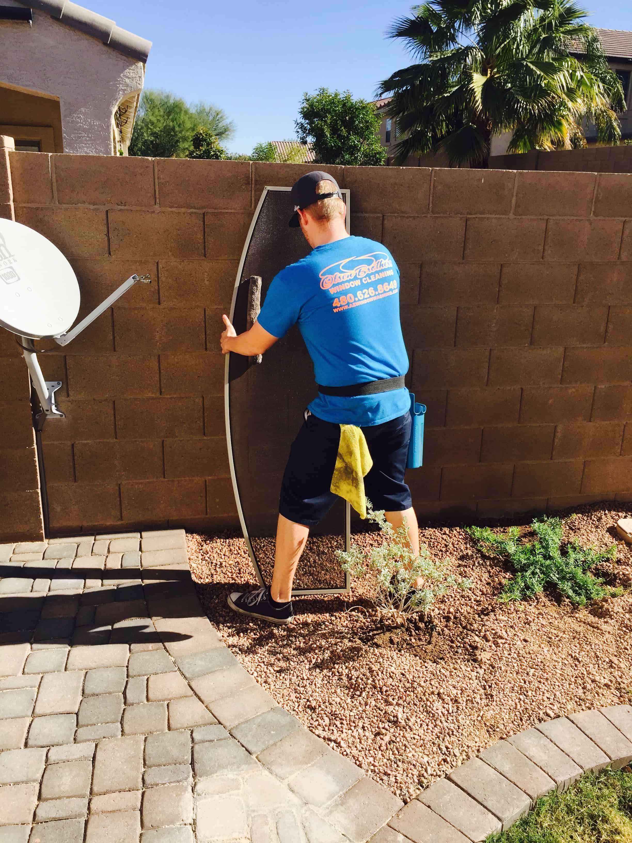 Solar Screen Cleaning in Arizona