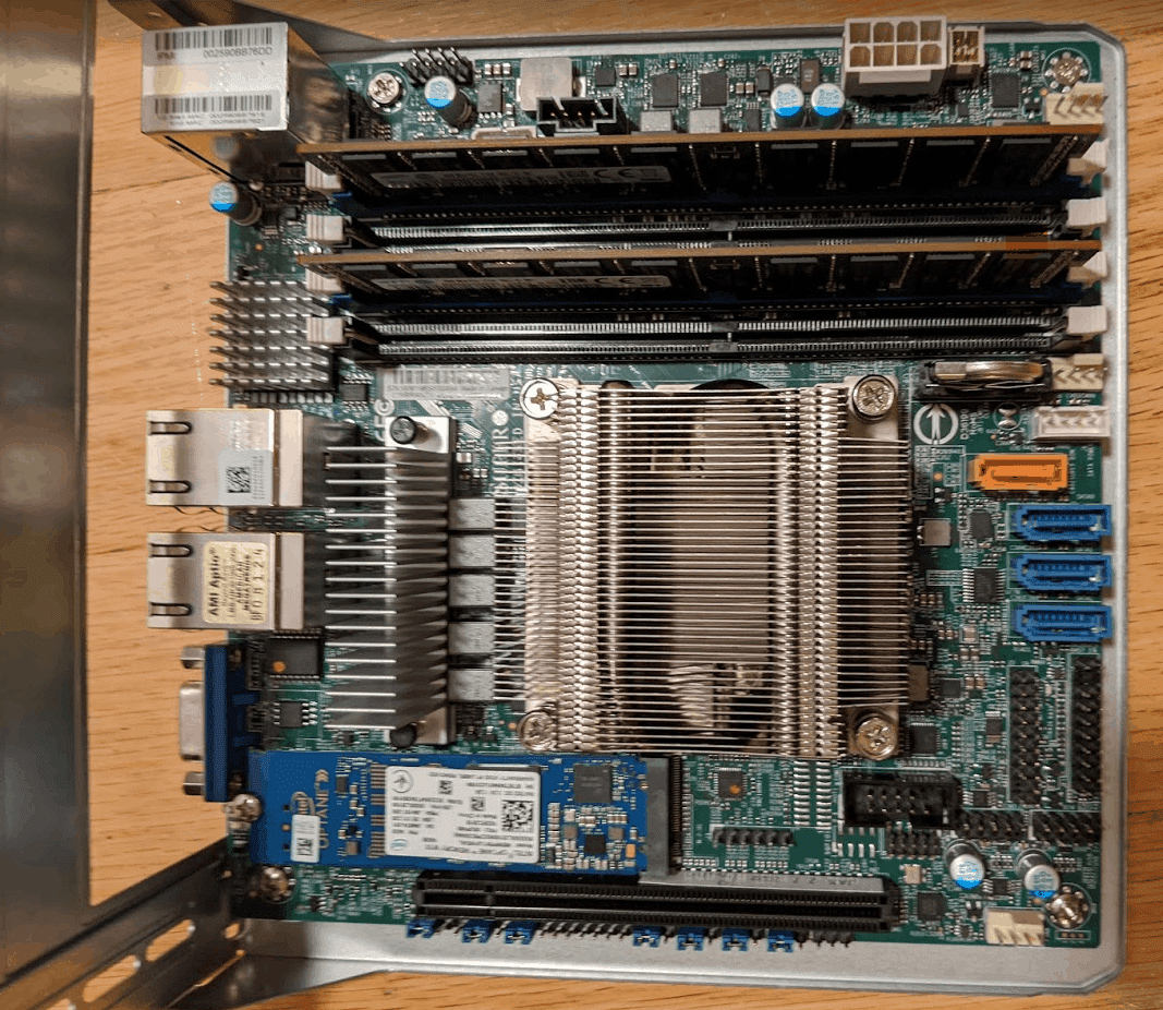 M11SDV Motherboard with Memory and NVMe SSD