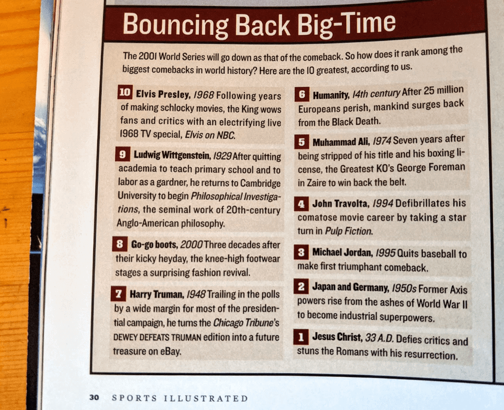 Sports Illustrated Bouncing Back Big-Time