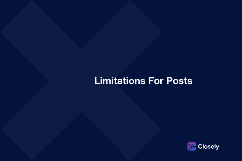 limitations for posts