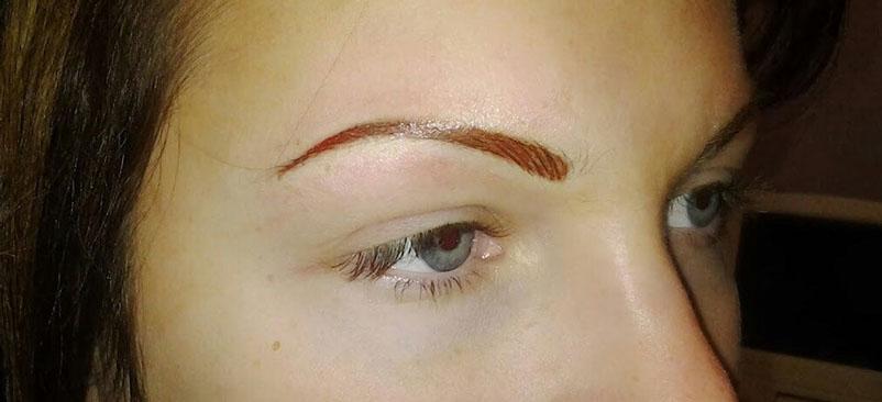 Up close image after eyebrow