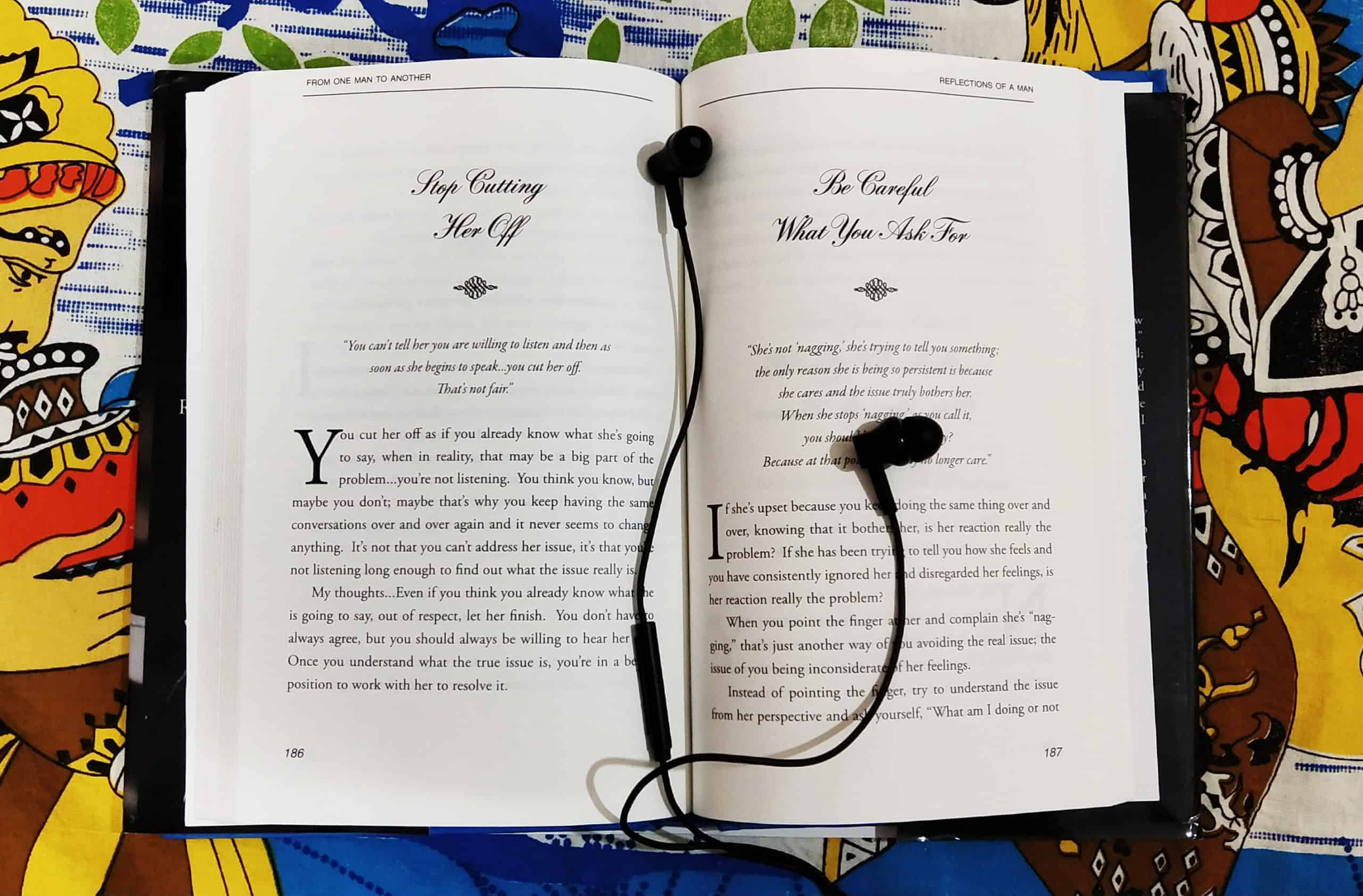 Reading Books And Listening To Music