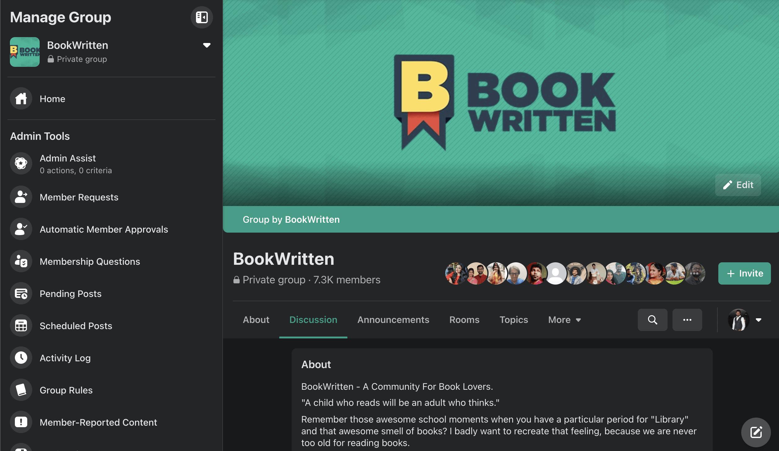 BookWritten Facebook Community Sell Books Online