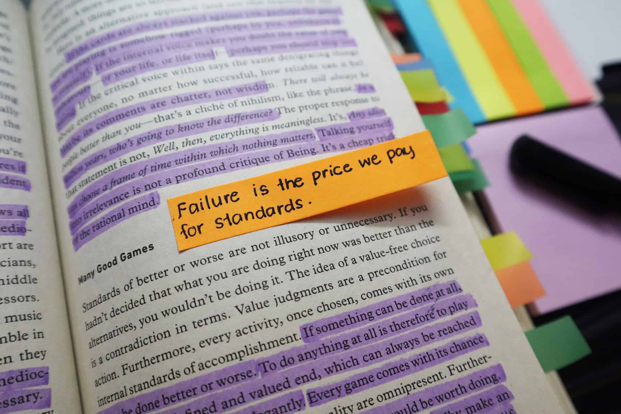 Use Sticky Paper Prompts Tips Annotate Books