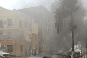 Right Now: Explosion on the Corner of Evergreen and Jefferson [Updated]