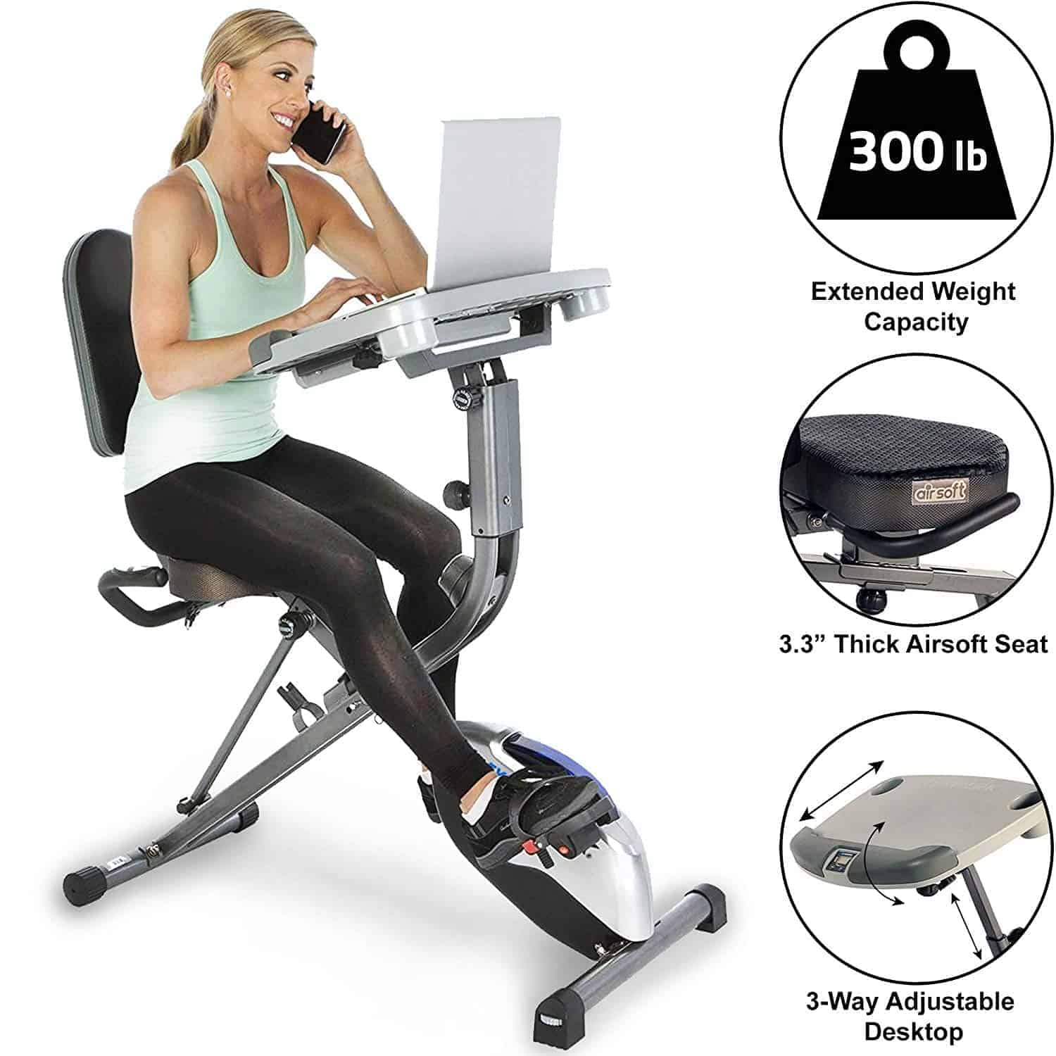 Exerpeutic ExerWorK 1000 desk bike
