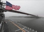 US Navy's Brand New USS Tripoli Sails Under Golden Gate Bridge