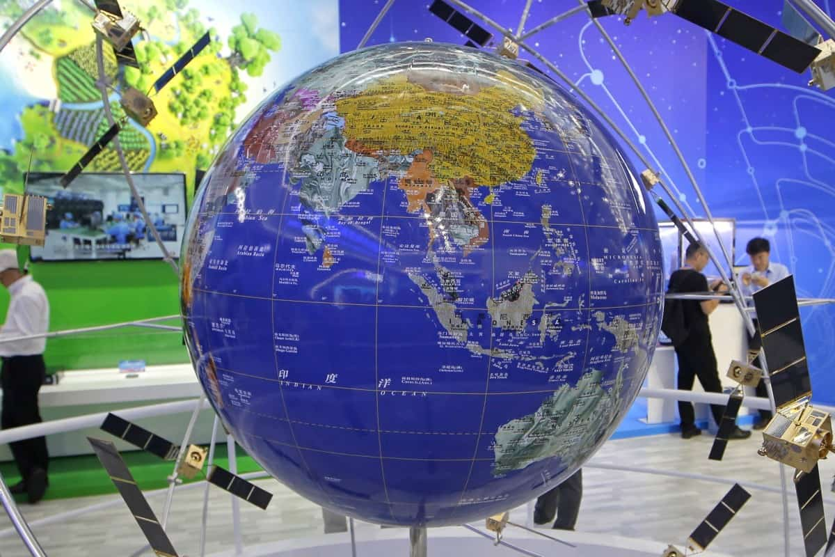 The Chinese BeiDou satellite positioning system expands China's global footprint. Photo: AP