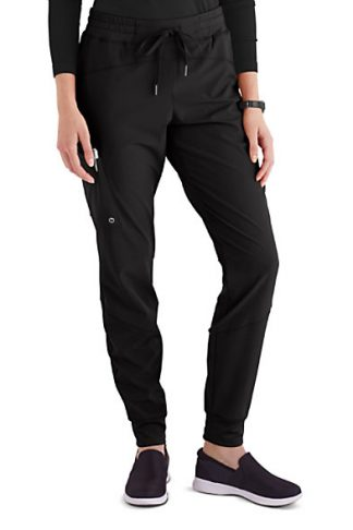 BOP513- Black - Barco One Boost 3 Pocket Perforated Jogger Scrub Pant