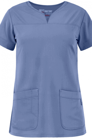 GA2121- Ceil Blue - Grey's Anatomy Signature Stretch Modern Fit Two Pocket Top