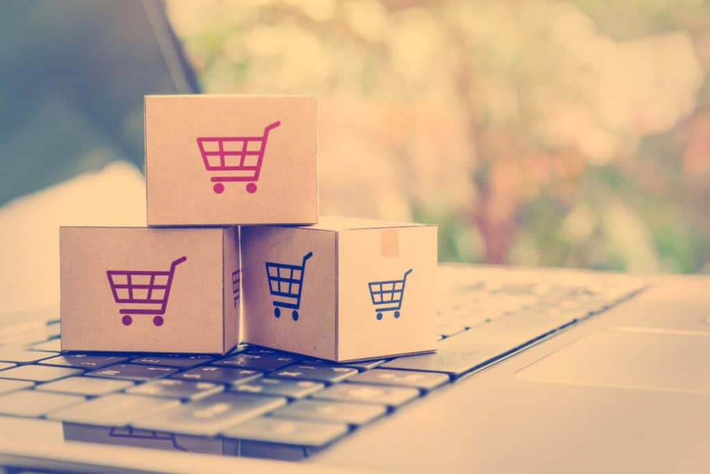 A Shopping Cart on a Laptop for E-Commerce - Cedric Millar Ontario Supply Chain Management