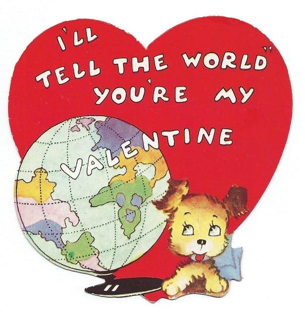 My valentine dog to world