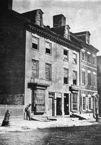 the first United States Mint in Philadelphia
