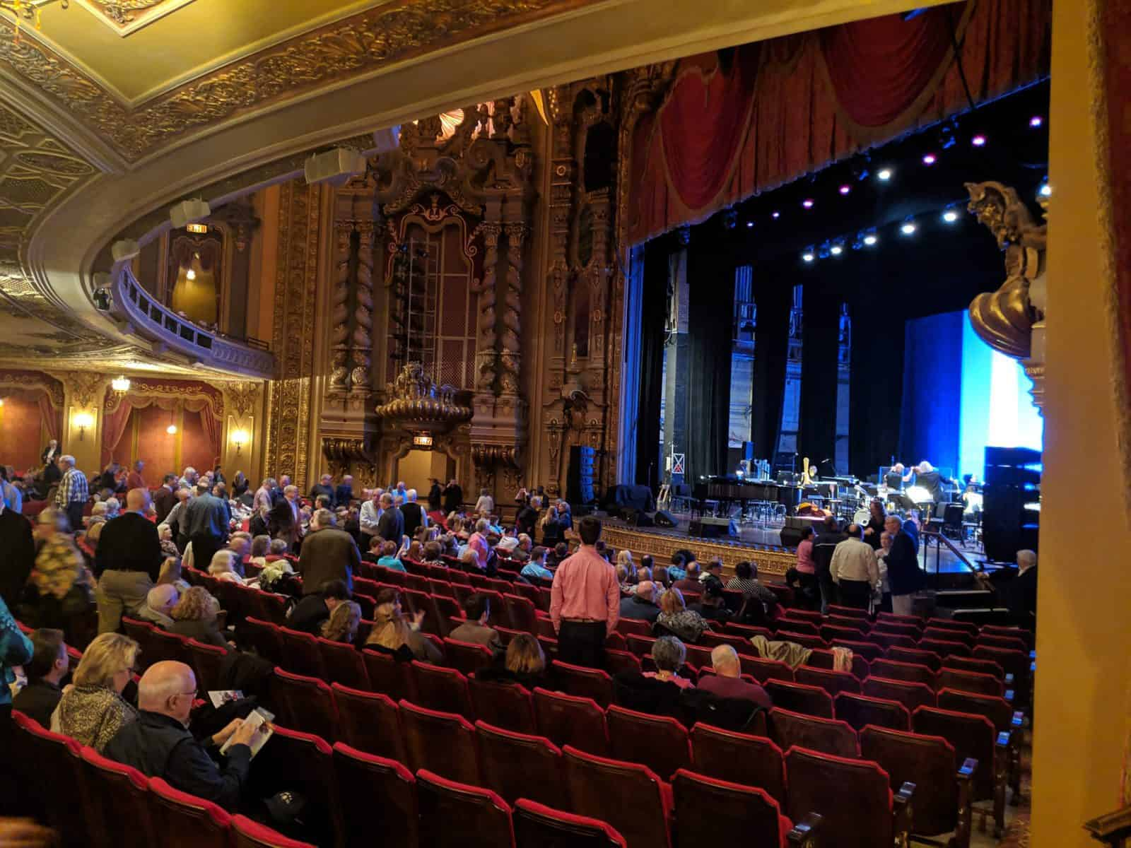 Ohio Theater Interior with Stage View