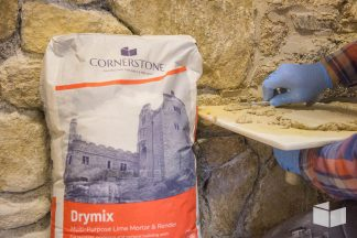 Cornerstone Drymix used as pointing mortar