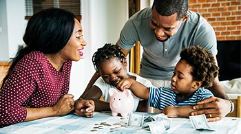 Practicing good family savings habits