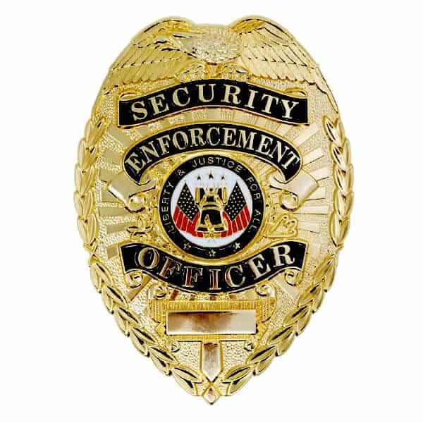 Polished Gold Badge