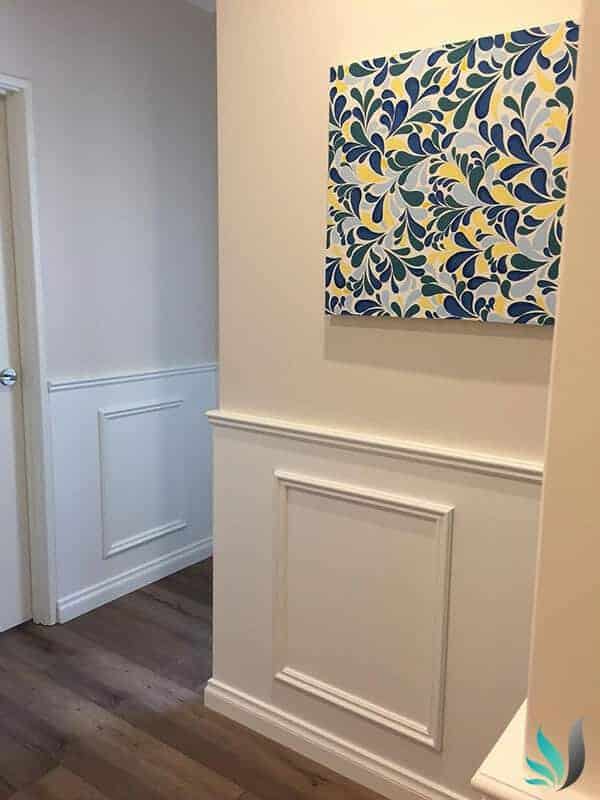 Custom Creations Perth WA - Wainscoting Hamptons Style Wall Panelling Installation