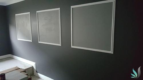 Custom Creations Perth WA decorative wall panelling in loungeroom