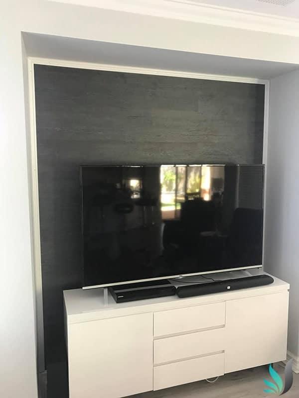 Custom Creations Perth WA grey timber feature wall