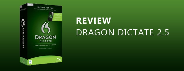 Review: Nuance Dragon Dictate 2.5