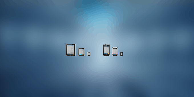 iPad and iPhone icons (PSD)