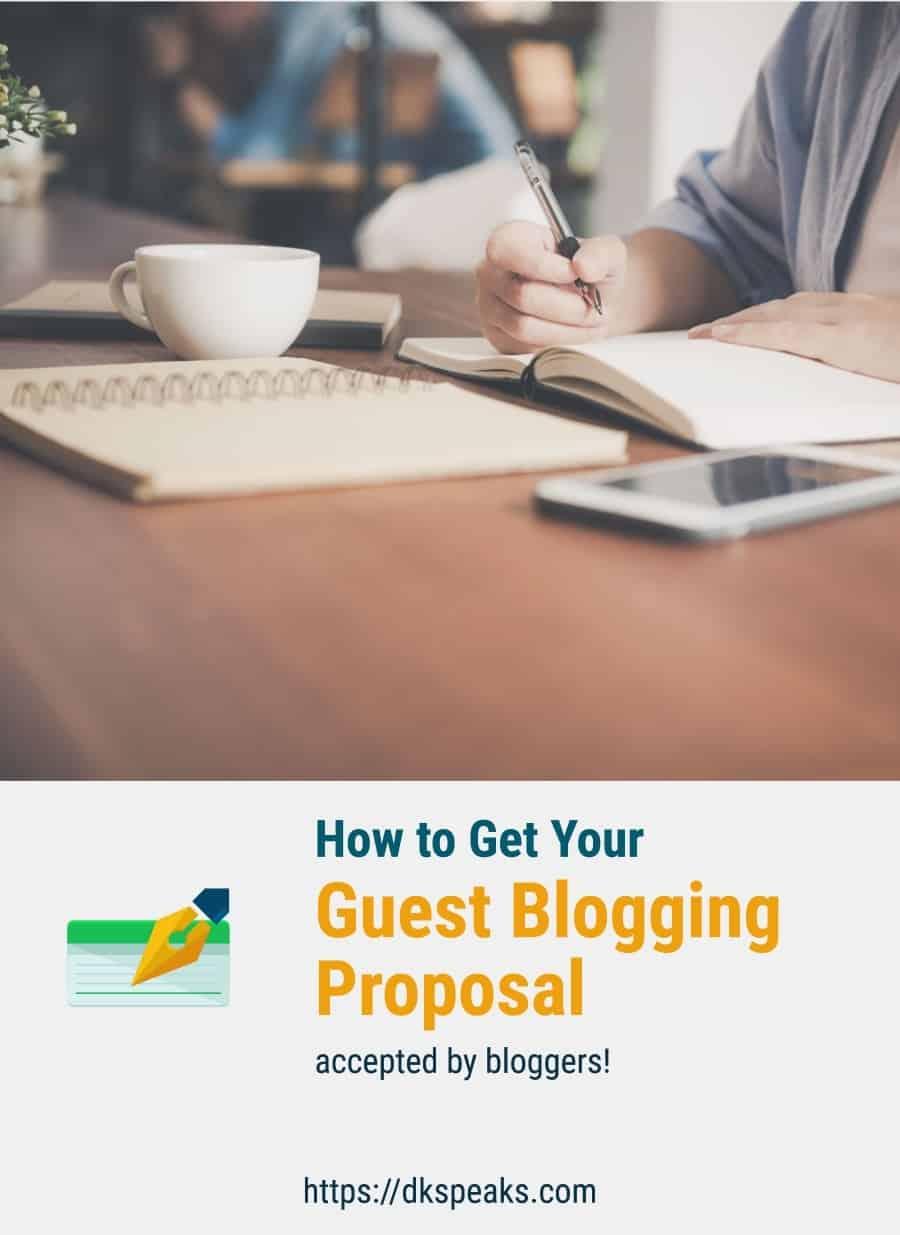 guest blogging proposal