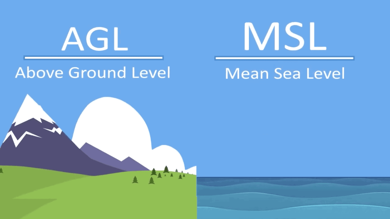 The Difference Between Above Ground Level (AGL) and Mean Sea Level (MSL)