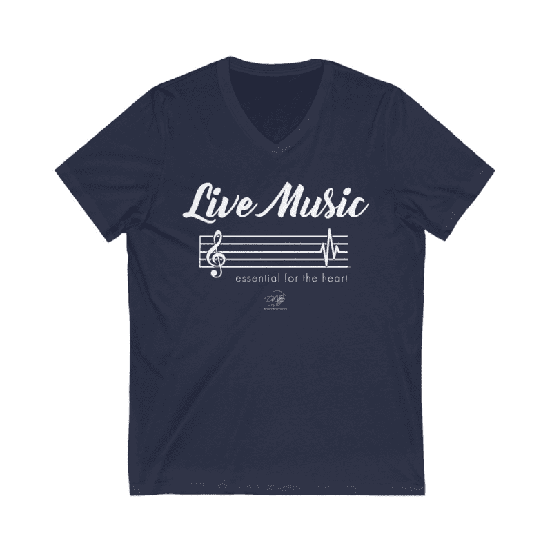 """Live Music - Essential for the heart"" T-Shirt"